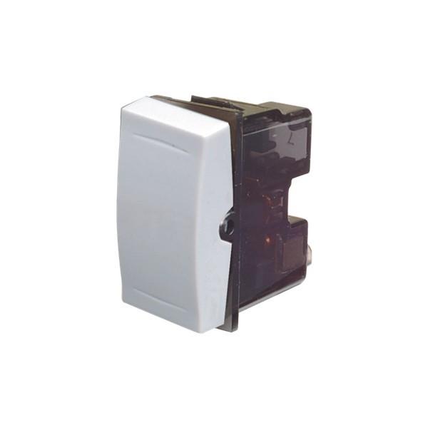 Intrerupator cap scara / cruce simplu Esperia 300505, incastrat, modular - 1, alb