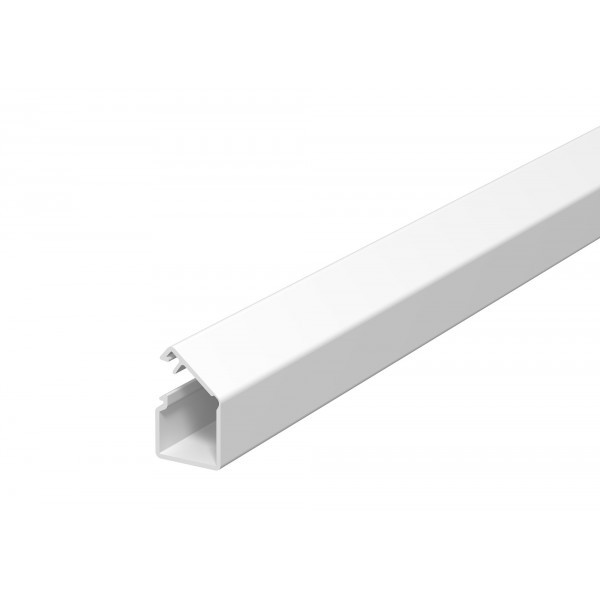 Canal cablu mini WDK 6150292, 17 x 17 mm, cu folie adeziva si capac rabatabil, alb, PVC