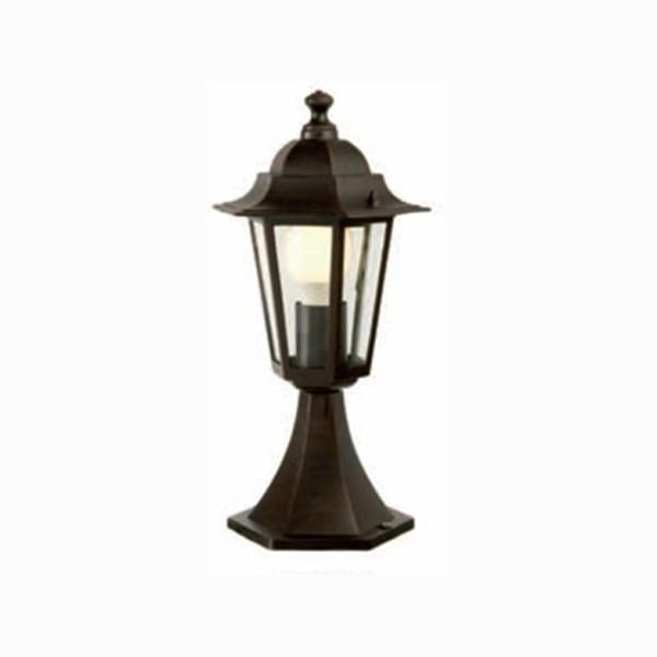 Stalp de iluminat ornamental London 6104N, 1 x E27, 41 cm, negru