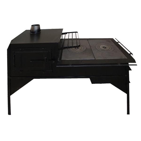 Soba tabla, pe lemne, Aba, cu plita, 5 kW, 1070 x 900 x 560 mm