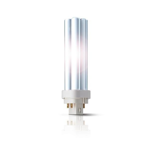 Bec economic G24q-2 Philips Master PL-C 4P 18W lumina calda