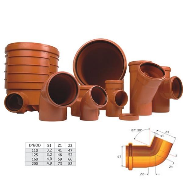 Cot PVC cu inel, D 160 mm, 67 grade