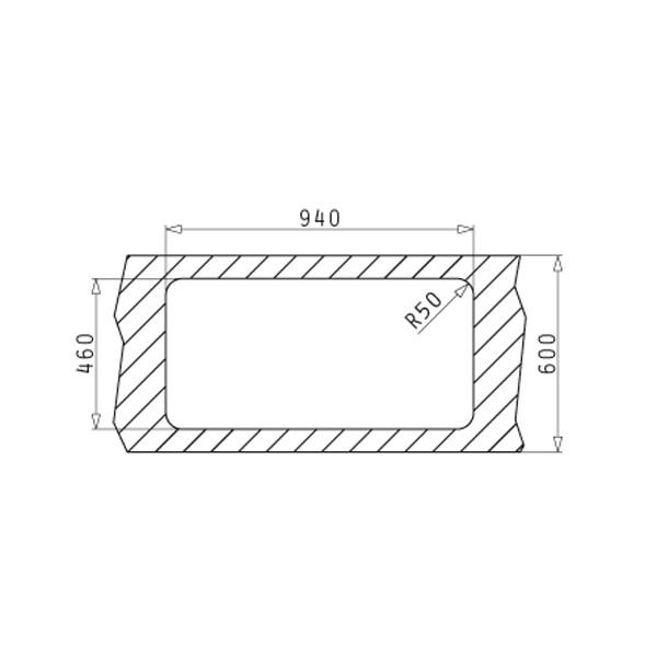 Chiuveta bucatarie inox anticalcar Pyramis Space Plus cuva stanga / dreapta 100 x 50 cm