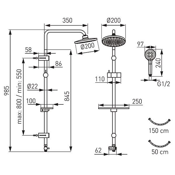 Sistem de dus Ferro Dual NP23