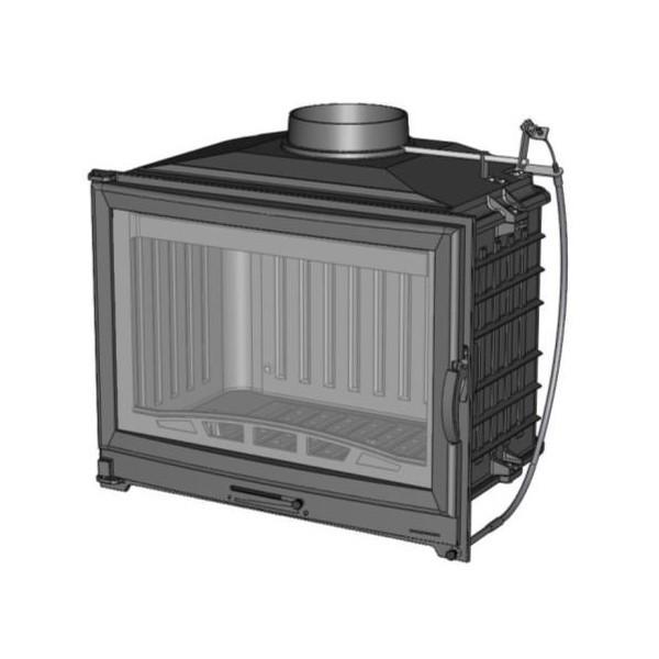 Focar semineu Chazelles D70 V, din fonta, cu regulator tiraj, 9.5 kW, 69.8 x 63.8 x 43.7 cm