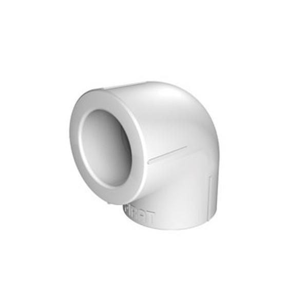 Cot PPR, 40 x 40 mm, alb, 90 grade