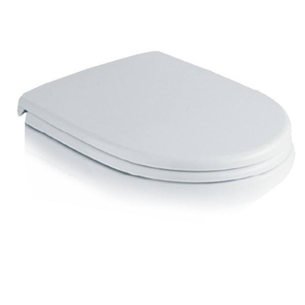 Capac WC din duroplast Mondial Pearl 9967-01, alb, inchidere simpla