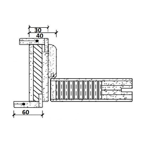 Usa de interior din lemn cu geam BestImp G3-88-J stanga / dreapta stejar auriu 203 x 88 cm