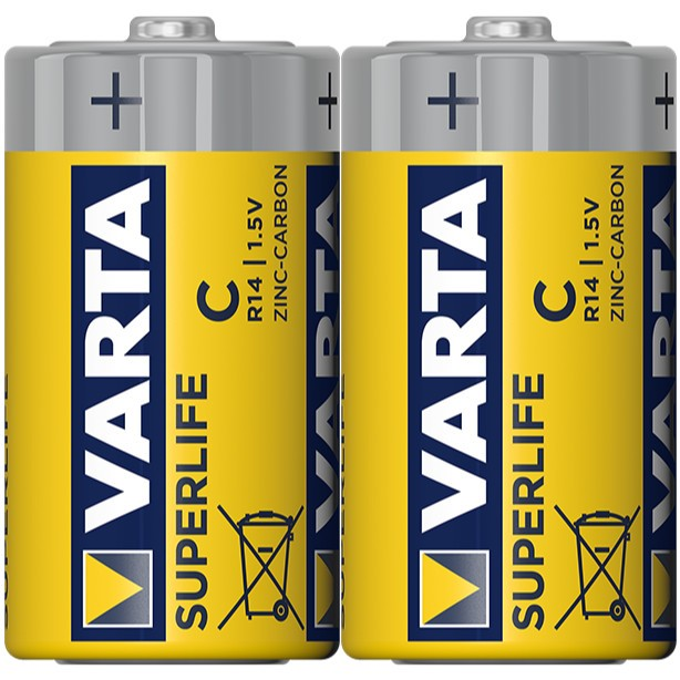 Baterie Varta Superlife 2014, R14 / C, Zinc - Carbon, 2 buc