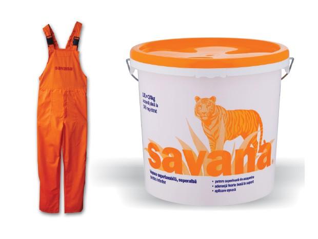 Vopsea lavabila Savana interior 15 l + salopeta