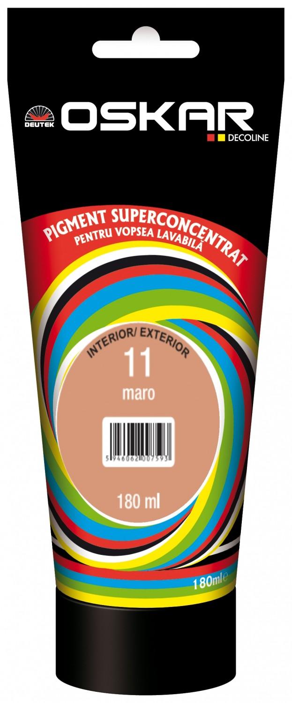 Pigment Oskar D, maro 11, pentru vopsea lavabila, 180 ml