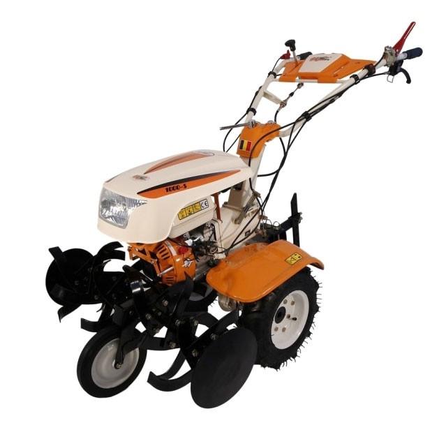 Motocultor pe benzina O-Mac 1000S, 8 CP, 3 viteze + roti cauciuc + plug + rarita