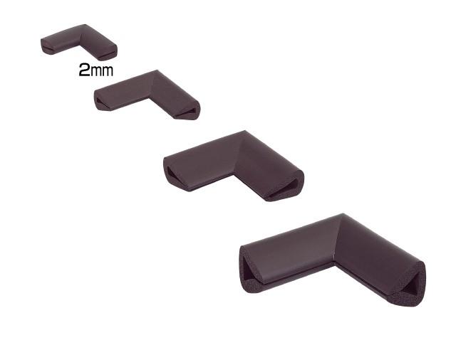 Coltar protector muchii din spuma de cauciuc AC-150, maro, grosime 5 mm