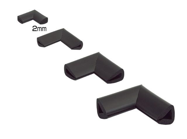 Coltar protector muchii din spuma de cauciuc AC-151, negru, grosime 2 mm