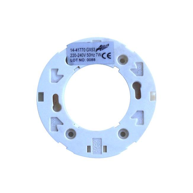 Soclu pentru bec GX53 plastic Adeleq 00-759