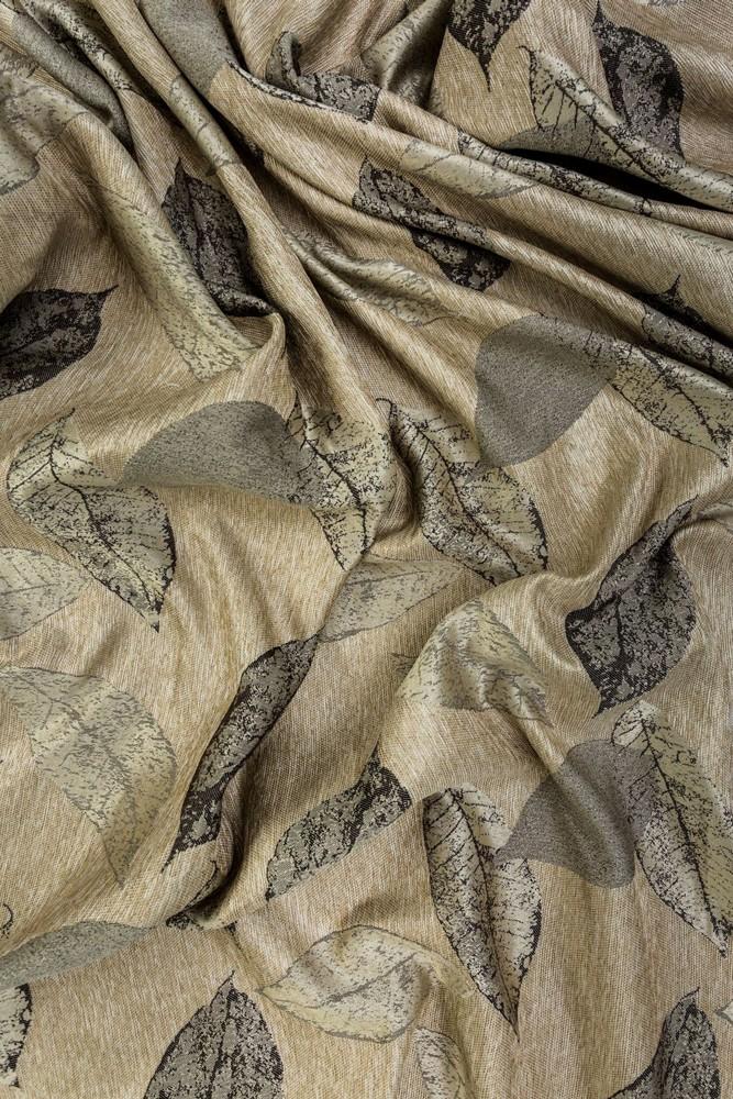 Draperie Delancy poliester, maro + auriu, H 300 cm