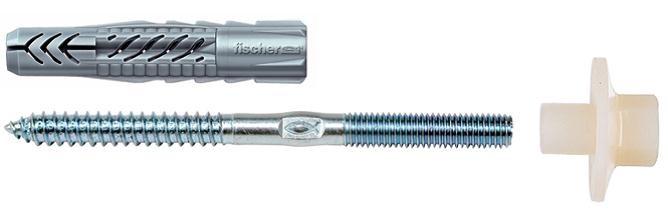 Set fixare sanitare, Fischer, diblu UX 10, prezon M 8 x 90 mm