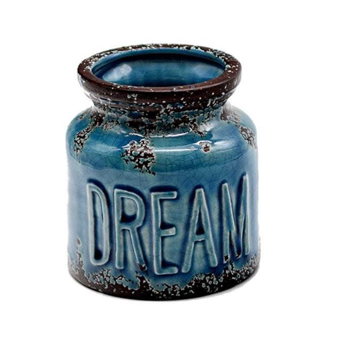 Vas decor, din ceramica, D292, 10 x 11 cm