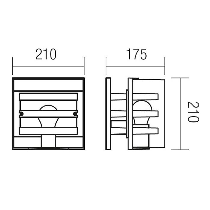 Aplica exterior Marano 9397, 1 x E27