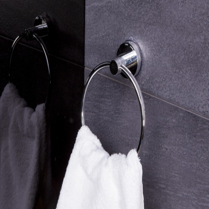Suport prosop baie, Ridder 12050100, tip inel, 18.5 x 21.4 x 7.2 cm