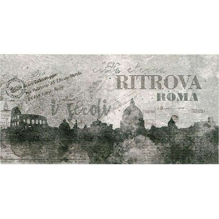 Decor faianta baie / bucatarie 2651-0086 Cement / City gri mat 25 x 50 cm