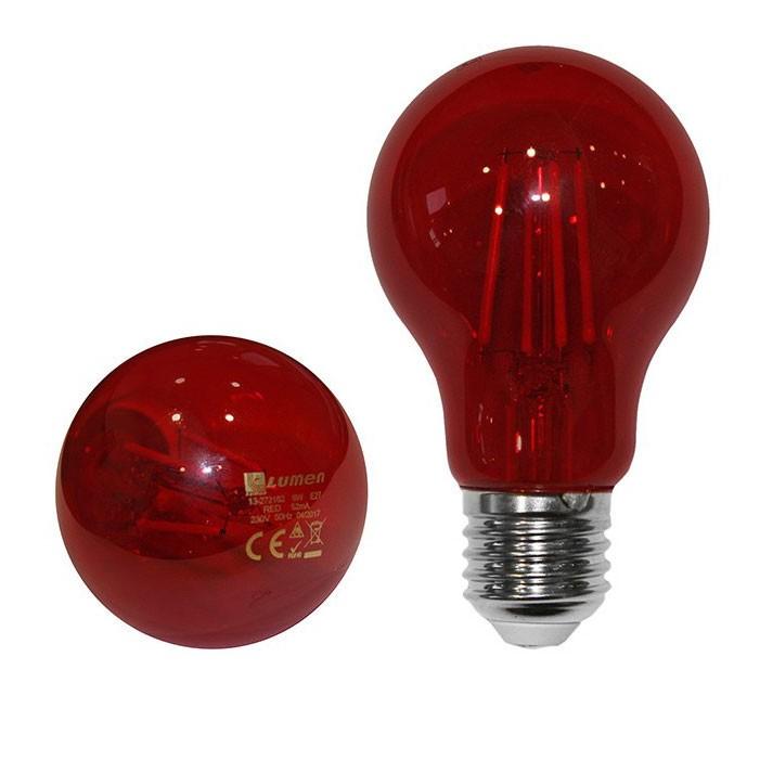 Bec LED COG Adeleq Lumen 06-728/R clasic E27 6W lumina rosie