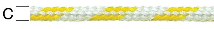 Sfoara polipropilena, alb + galben, 3 mm