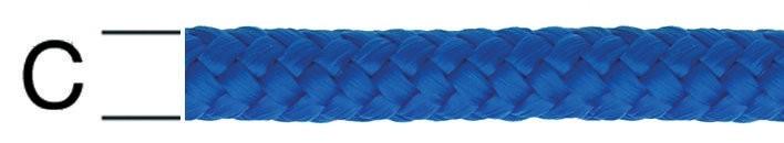 Coarda polipropilena albastra 8 mm