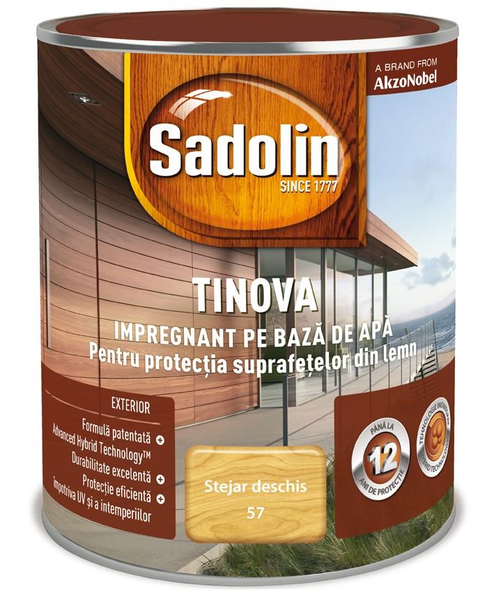 Impregnant pentru lemn Sadolin Tinova, stejar deschis, pe baza de apa, exterior, 0.75 L