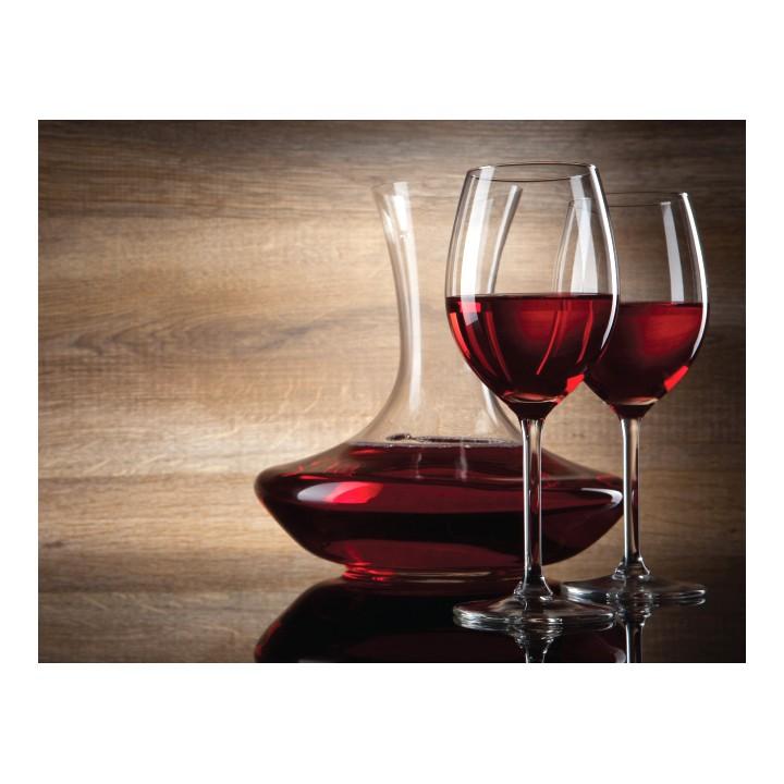 Tablou PT0060 Vin rosu, panza canvas + sasiu brad, stil vintage, 65 x 50 cm