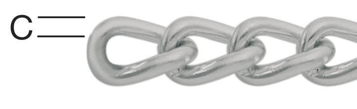 Lant din otel, argintiu, 1.2 mm