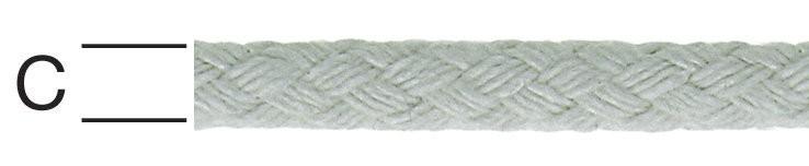 Sfoara din bumbac, alba, 6 mm
