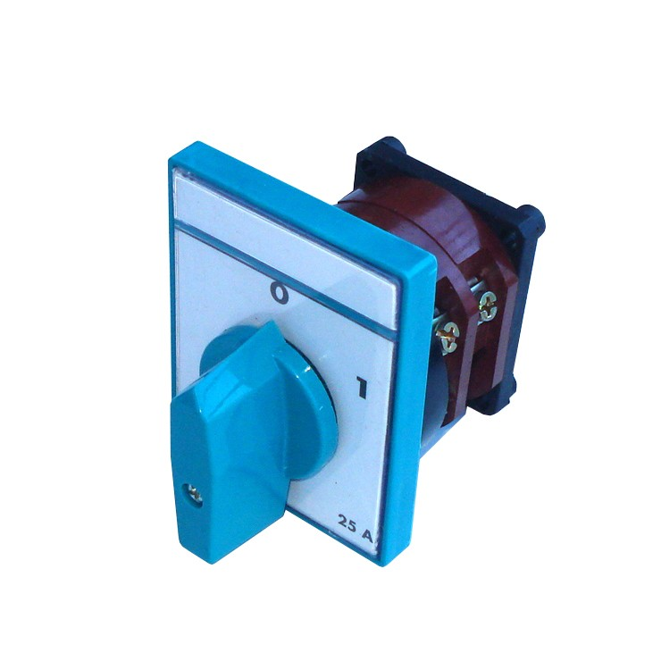 Comutator circular cu came Metop 63-006, 3 poli, pozitie 0-1, 25A