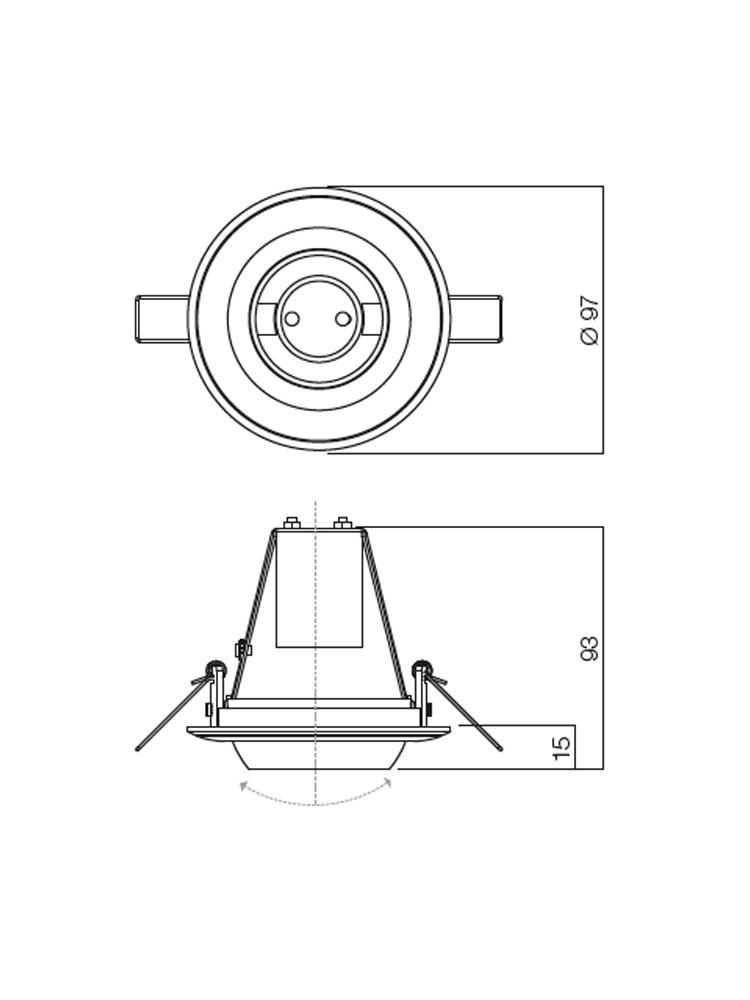 Spot incastrat TR 50 70066, E14 / R50, alb