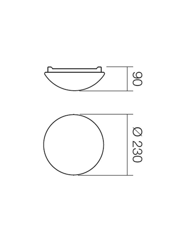 Plafoniera pentru baie Ibis 01-239, 1 x E27, D 230 mm