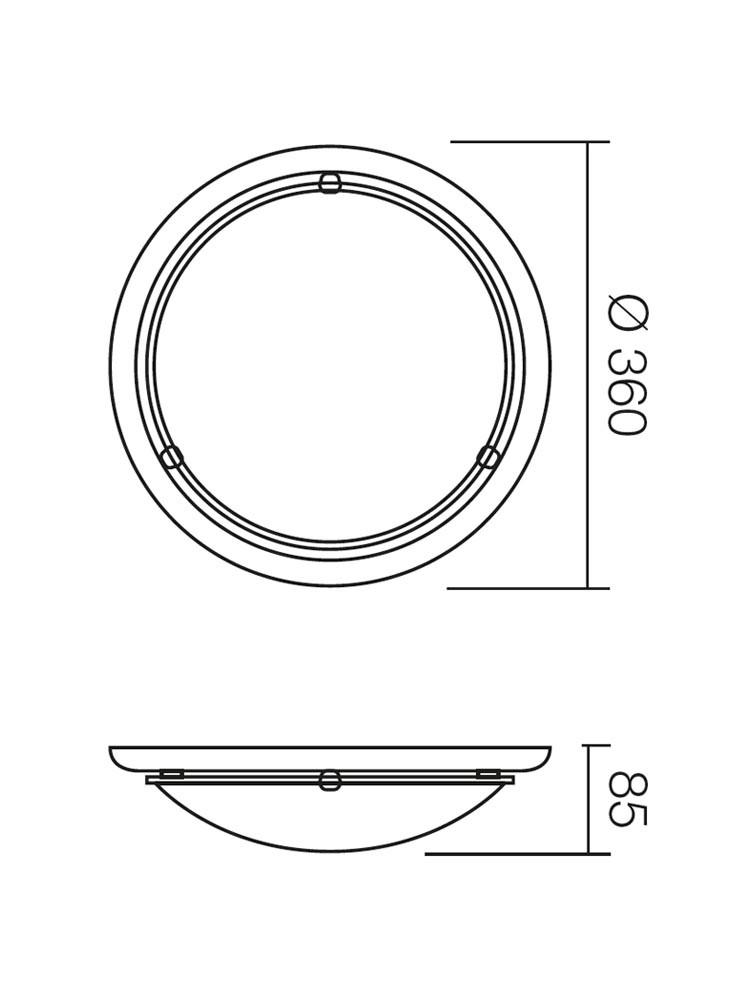 Plafoniera Cosi 05-088, 1 x E27, mahon