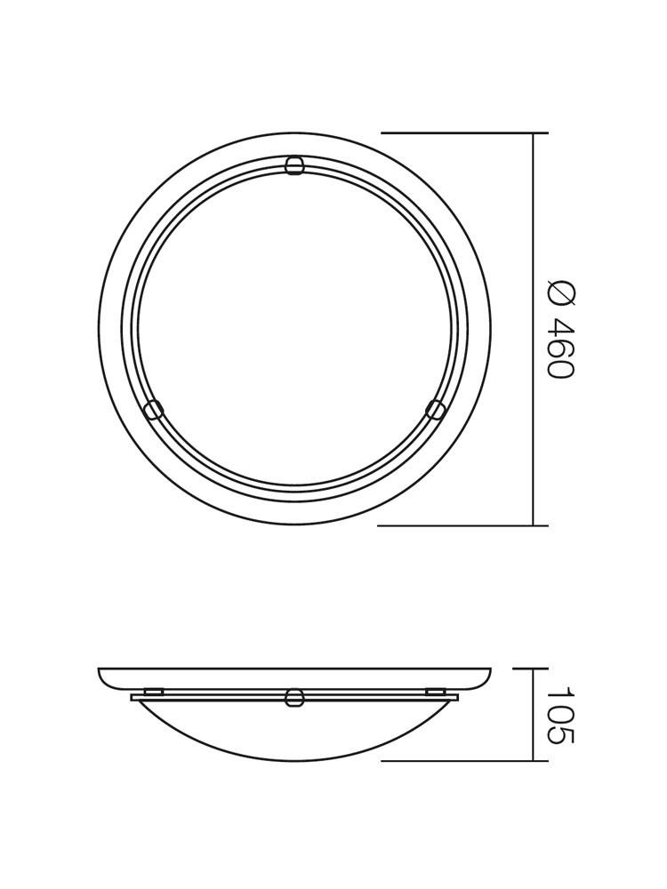 Plafoniera Cosi 05-092, 2 x E27, nuc