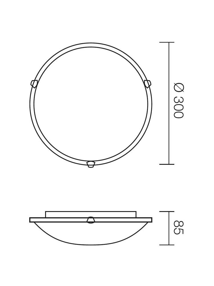 Plafoniera Virginia 05-389, 1 x E27, tabac, D300 mm