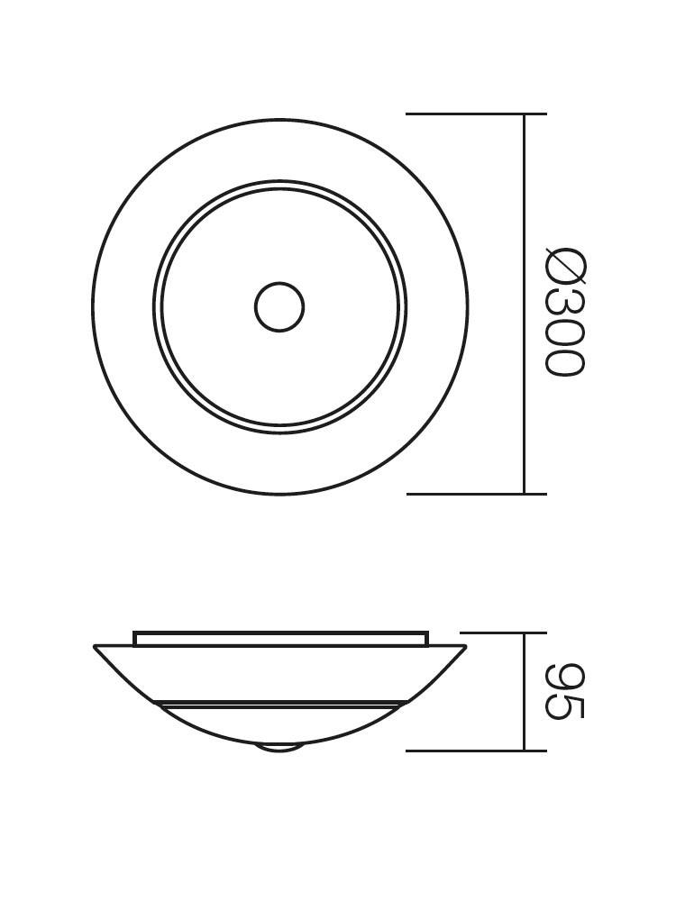 Plafoniera Greca 05-193, 1 x E27, maro
