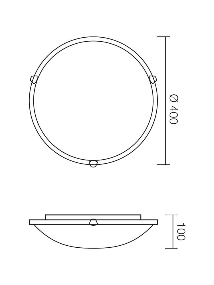 Plafoniera Virginia 05-394, 2 x E27, roz, D400 mm