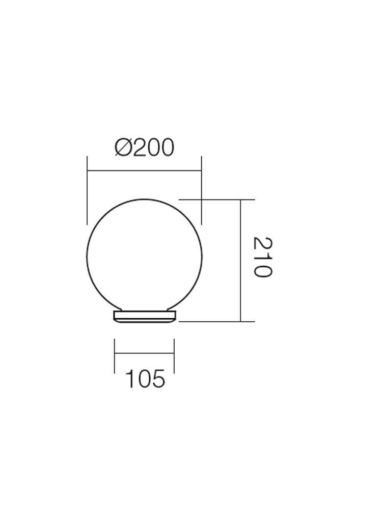 Corp de iluminat pentru exterior Sfera 1 9761, 1 x E27, D 20 cm, opal