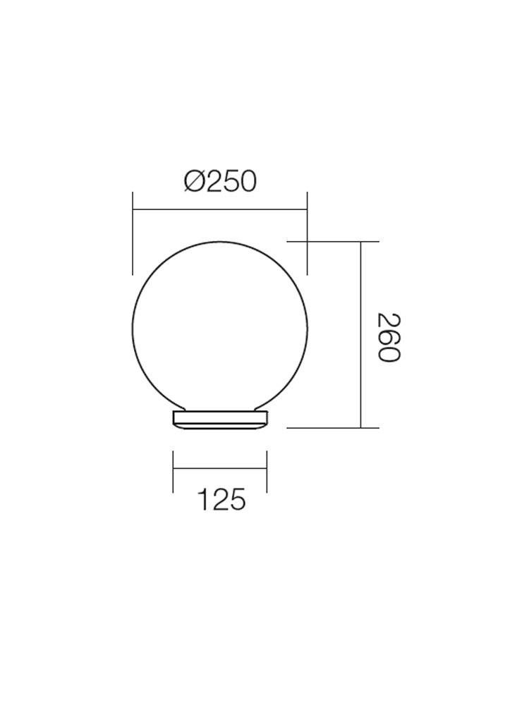 Corp de iluminat pentru exterior Sfera 2 9770, 1 x E27, D 25 cm, fumuriu
