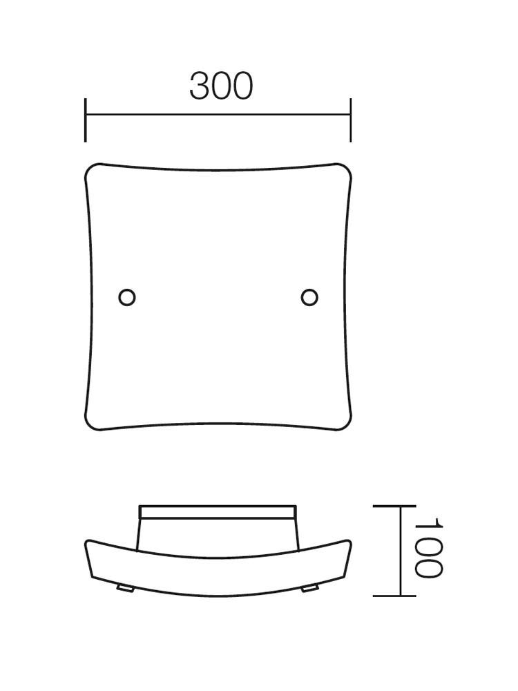 Plafoniera Soffio 05-319, 1 x E27