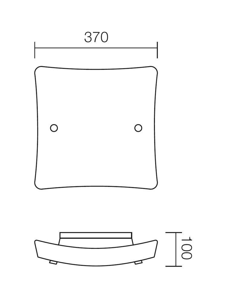 Plafoniera Soffio 05-320, 2 x E27
