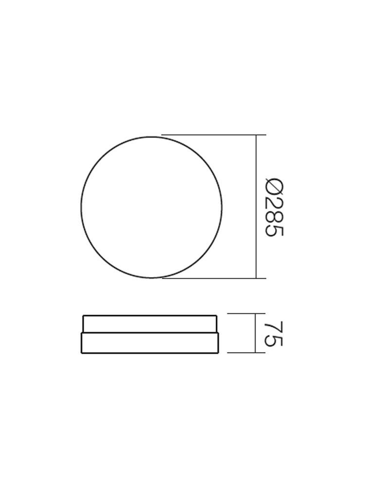 Plafoniera pentru baie Teo 01-235, 2 x E14