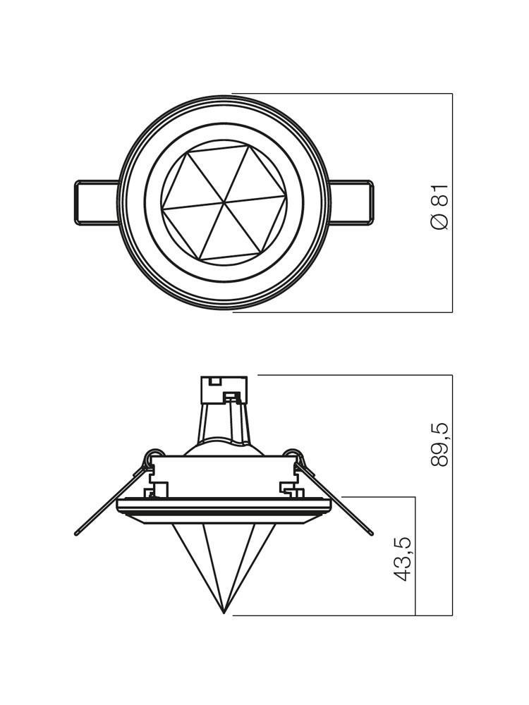 Spot incastrat ELC 2876+C6 70029, GU5.3, crom
