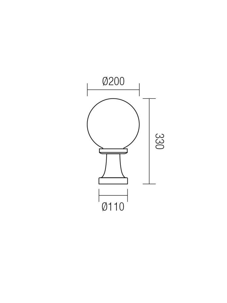 Corp de iluminat pentru exterior Sfera Jolly 9764, 1 x E27, H 33 cm, fumuriu