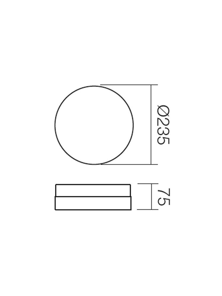 Plafoniera pentru baie Teo 01-236, 1 x E14