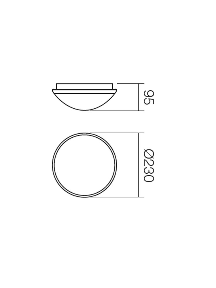 Plafoniera pentru baie Ring 01-245, 1 x E27