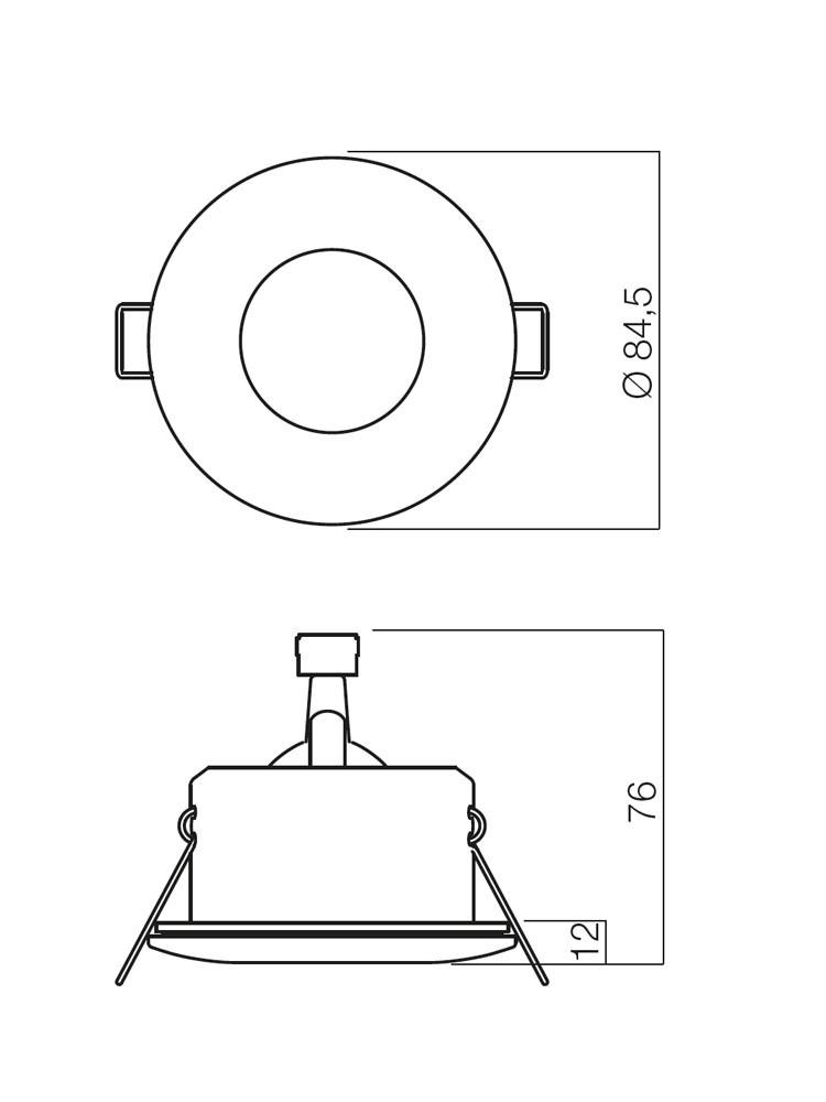 Spot incastrat ELC 1101 70124, GU5.3, alb